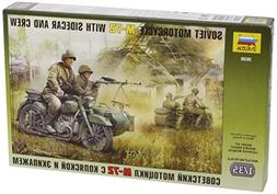 Zvezda Models 1/35 Soviet Motorcycle with Sidecar M-72