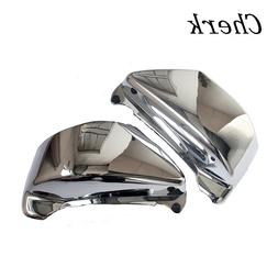Cherk 1 Pair Plated ABS Chrome Battery Side Fairing Covers F
