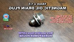 14mm Magnetic Oil Pan Drain Plug Bolt with Washer for most Y