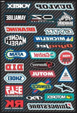 Factory Effex 15-68800 Street Sponsor Sticker Sheet Kit
