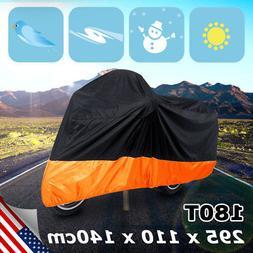 uxcell XXL 180T Rain Dust Protector Black+Orange Scooter Mot
