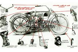 1913 SEARS MOTORCYCLE ADVERTISING PHOTO OLD VINTAGE PARTS DI