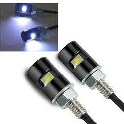 Rupse 2 White Led Motorcycle, Car License Plate Screw Blot L