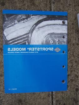 2012 Harley Davidson Sportster Motorcycle Parts Catalog SEE