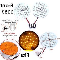 2x Front 1157 Amber 1986-2010  Pancake LED Turn Signal Light