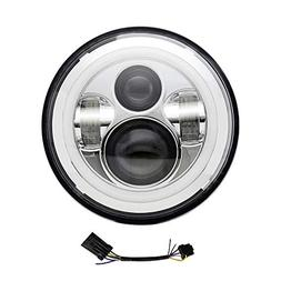 7 inch LED Headlight DOT Approved Halo DRL Turn Signal Motor