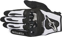 Alpinestars SMX-1 Air Mens Motorcycle Gloves - Black/White -