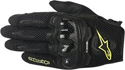 Alpinestars SMX-1 Air Mens Motorcycle Gloves - Black/Yellow