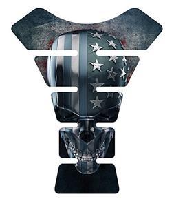 American Skull Grunge Skull Gel Motorcycle Gas Tankpad Kawas
