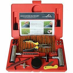 Boulder Tools - 56 Pc Heavy Duty Tire Repair Kit For Car, Tr
