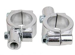 """CHROME Motorcycle 1"""" 25mm handle bar Clamp with 10mm clockwi"""