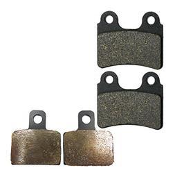 CNBK Motorcycle Semi-Metallic Brake Pads Set fit OSSA Dirt B