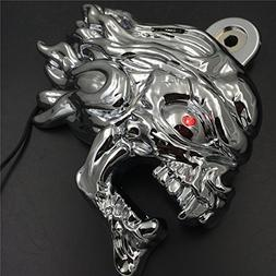 Chrome Ghost Head Wind head horn cover For 1992 and up Harle