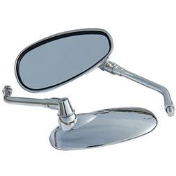 Chrome Motorcycle Rear View Side Oval Mirrors for 2001 Suzuk