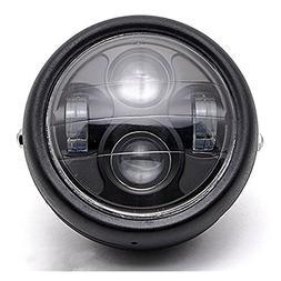 """DLLL LED Universal Metal Black 6.5"""" Headlight Projector Head"""