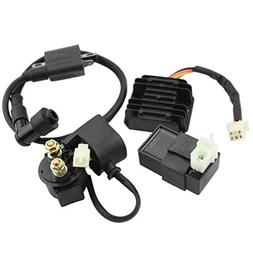 GOOFIT Ignition Coil AC CDI Voltage Regulator Rectifier Rela