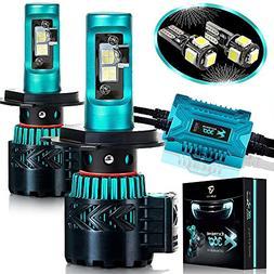 Glowteck LED Headlight Bulbs Conversion Kit - H4 CREE XHP50
