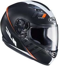 HJC CS-R3 Space Motorcycle Helmet Matte Black Orange Large