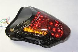 HTT Group Motorcycle Clear Led Tail Light Brake Light with I