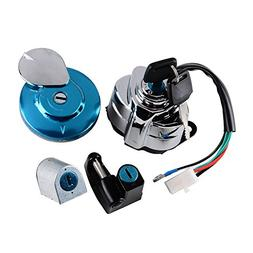Ignition Fuel Gas Cap Steering Lock Set + 2 Keys Fit Honda S