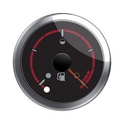 Indian Motorcycle New OEM Black Dial Face Fuel Gauge, 288344