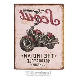 Indian Motorcycle New OEM Scout Motorycle Sign Metal Tin, 28