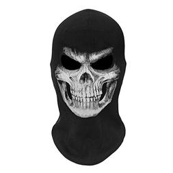 JIUSY Skeleton Skull Balaclava Ghost Death Neck Warmer Face