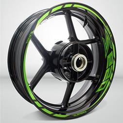 Kawasaki Z650 Gloss Light Green Motorcycle Rim Wheel Decal A