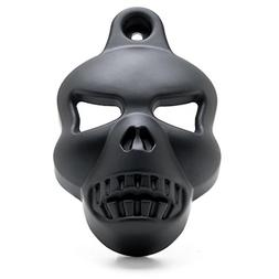 Krator Motorcycle Black Skull Horn Cover for Harley Davidson