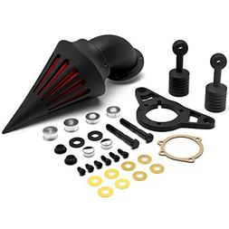 Krator Motorcycle Black Spike Air Cleaner Intake Filter For