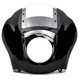 Krator NEW Black & Clear Quarter Fairing Windshield Kit for