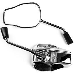 Krator Universal Chrome Motorcycle Mirrors for Kawasaki Vulc