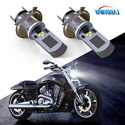 LABBYWAY 2 Pcs H4 LED Bulb Super Bright 900 Lumen Motorcycle