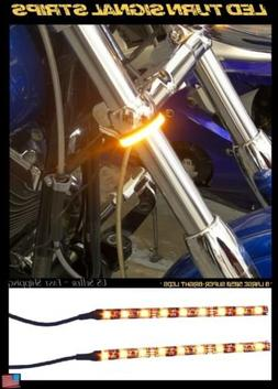 LED 39-43mm Motorcycle Fork Turn Signal/Running Light Kit w/