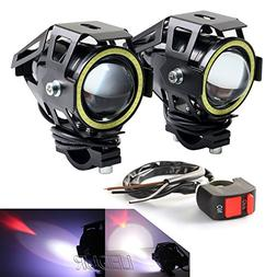 LEDUR Motorcycle Headlight Led U7 DRL Fog Driving Running Li