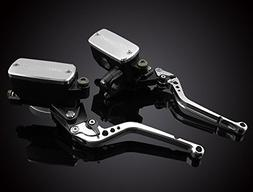 LUO Silver Brake Clutch Master Cylinder Levers for Yamaha MT