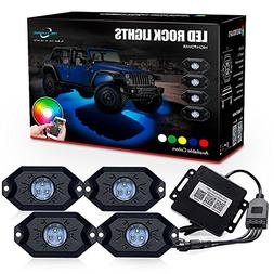 MICTUNING 2nd-Gen RGB LED Rock Lights with Bluetooth Control