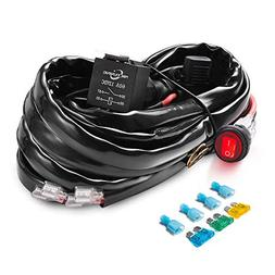 MICTUNING HD+ 12 Gauge 600W LED Light Bar Wiring Harness Kit