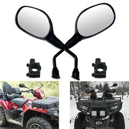 MZS ATV's Rear View Mirrors 7/8 Handlebar Mount for Motorcyc