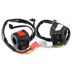 "Motorcycle 7/8"" Handlebar Horn Turn Signal Headlight Electri"