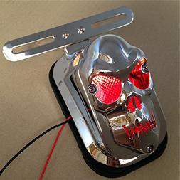 Motorcycle Chrome Red Skull Brake Tail Light Signal For Harl