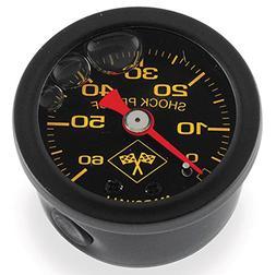 Motorcycle Parts 0-60 PSI Oil Pressure Gauge Black/Black 496
