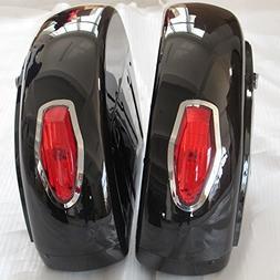 Motorcycle saddlebags Hard Saddle Bag Trunk w/ Light for Hon