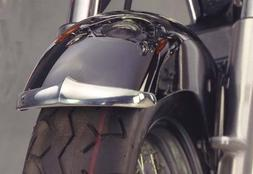 National Cycle Front Chrome Fender Tips for 1987-2007 Honda