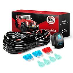Nilight NI -WA 07 LED Light Bar Wiring Harness Kit SASQUATCH