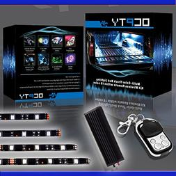OCPTY 12 Pack Motorcycle LED Light Kit Strips with Remote Co