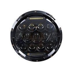 Ohmotor Black 7 Inch 75W Round Daymaker LED Projector Headli
