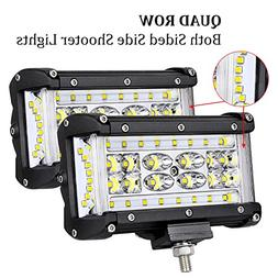 Quad Row Side Shooter LED Pods OFFROADTOWN 5'' 176W LED Ligh