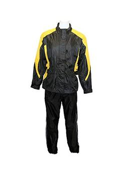 RoadDog 2 Piece Stay-Dry Motorcycle Rain Suit Waterproof Adu