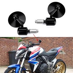 "Round 7/8"" Handle Bar End Motorcycle Side Mirrors For Yamaha"